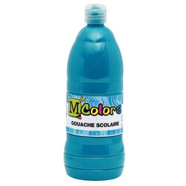 Bouteille gouache liquide 1L turquoise